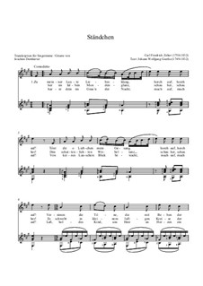 Ständchen: Ständchen by Carl Friedrich Zelter