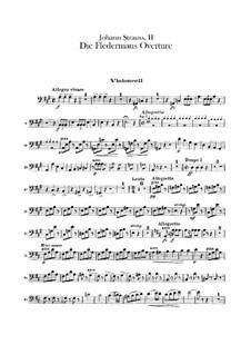 Die Fledermaus (The Bat): abertura - violoncelo parte by Johann Strauss (Sohn)