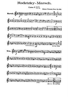 Radetzky March, Op.228: Brass parts by Johann Strauss Sr.