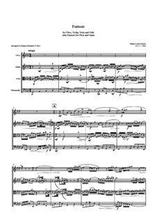 Fantasia for Oboe and Organ in F Minor: Version for oboe, violin, viola and cello – score by Johann Ludwig Krebs