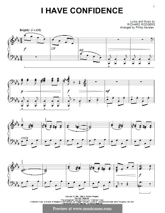 I Have Confidence (from The Sound of Music): Para Piano by Richard Rodgers