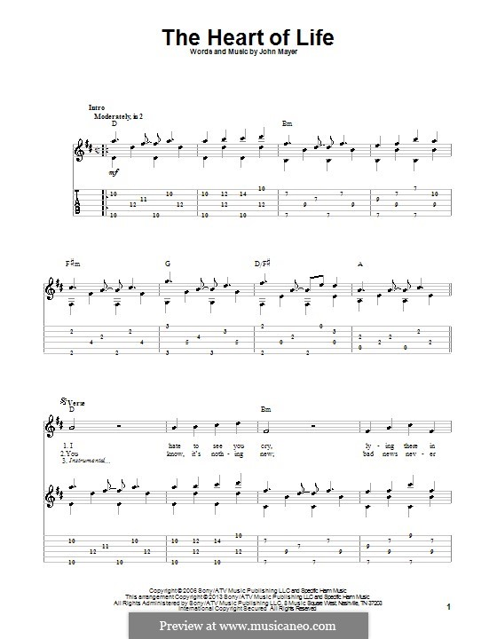The Heart of Life: Para guitarra com guia by John Mayer