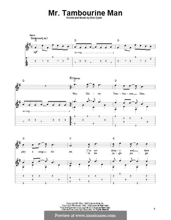 Mr. Tambourine Man: Para guitarra com guia by Bob Dylan