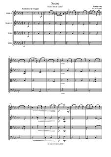 No.13 Danses des cygnes: Andante non troppo, for string quartet by Pyotr Tchaikovsky