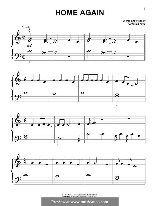 Home Again: Para Piano by Carole King