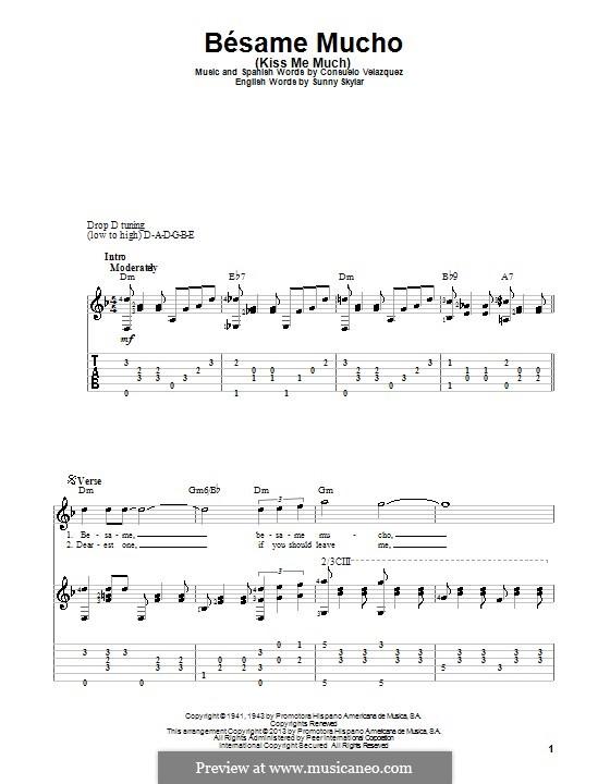 Besame Mucho (Kiss Me Much): Para guitarra com guia by Consuelo Velazquez