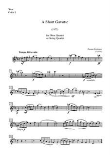 A Short Gavotte: Oboe (or violin I) part by Plamen Prodanov