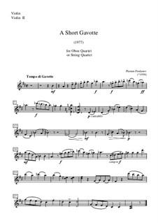A Short Gavotte: Violin (or violin II) part by Plamen Prodanov