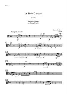 A Short Gavotte: parte viola by Plamen Prodanov