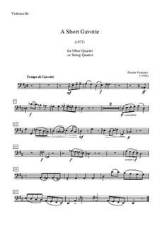A Short Gavotte: parte violoncelo by Plamen Prodanov