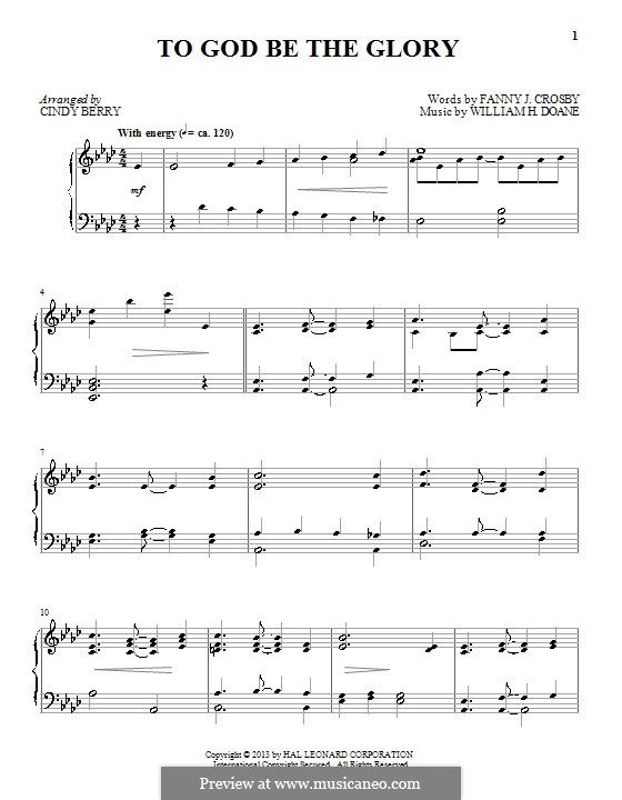 Blessed Assurance: Para Piano by William Howard Doane