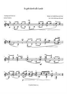Es geht durch alle Lande: Für Gitarre by Carl Gotthelf Glaeser