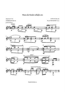 Wann die Kinder schlafen ein, Op.37 Nr.5: Für Gitarre by Carl Reinecke