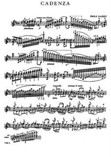Concerto for Violin and Orchestra No.1 in D Major, Op.6: Cadenza by Niccolò Paganini