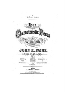 Four Characteristic Pieces, Op.25: No.1 Dance by John Knowles Paine