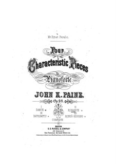 Four Characteristic Pieces, Op.25: No.2 Romantica by John Knowles Paine
