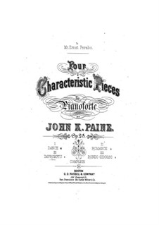 Four Characteristic Pieces, Op.25: No.3 Improviso by John Knowles Paine