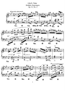Three Pieces, Op.41: No.2 Birthday Impromptu by John Knowles Paine