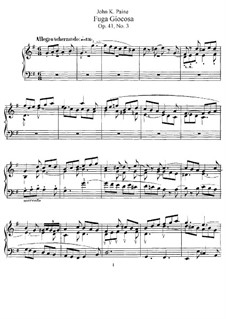 Three Pieces, Op.41: No.3 Fuga Giocosa by John Knowles Paine