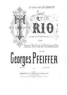 Piano Trio No.2 in D Minor, Op.103: Partitura completa by Georges Jean Pfeiffer
