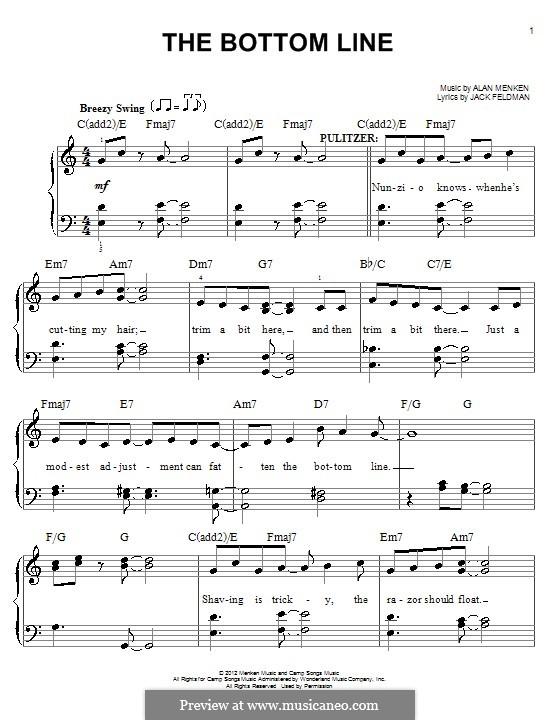 The Bottom Line: Para Piano by Alan Menken