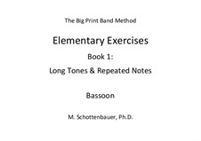 Elementary Exercises. Book I: Bassoon by Michele Schottenbauer