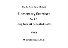 Elementary Exercises. Book I: Viola by Michele Schottenbauer