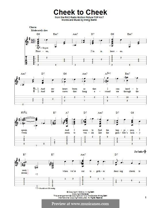 Cheek to Cheek: Para guitarra com guia by Irving Berlin
