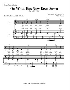 On What Has Now Been Sown: For voice and piano (with chords) by John Darwall