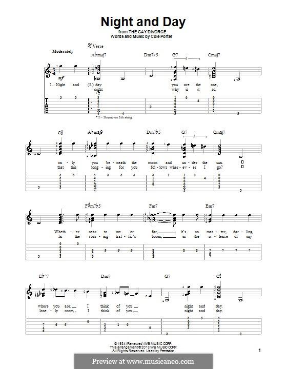 Night and Day (Frank Sinatra): para guitarra com guia by Cole Porter