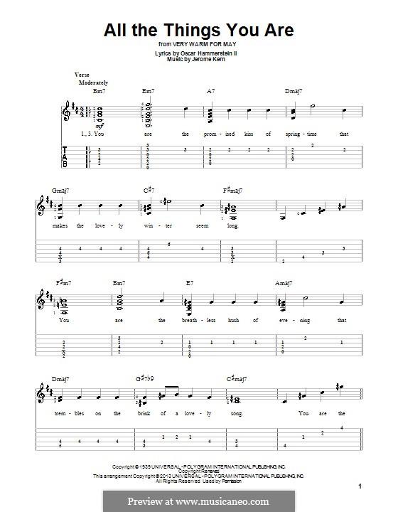 Instrumental version: Para guitarra com guia by Jerome Kern