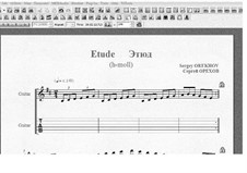 Etude (B Minor): Etude (B Minor) by Sergei Orekhov