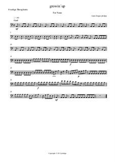 Growin up: Bass guitar part by Hans-Jürgen Philipp
