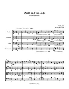 Death and the Lady: para quartetos de cordas by Unknown (works before 1850)