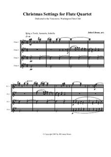 Christmas Settings: For four flutes by folklore, Michael Praetorius