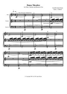 Danse macabre (The Dance of Death), Op.40: Para trio de instrumento de sopro de madeira by Camille Saint-Saëns