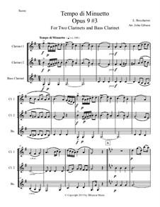 Six String Trios, Op.6: Trio No.3 in A Major, for clarinet trio, G.91 by Luigi Boccherini