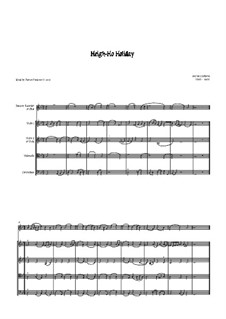 Heigh Ho Holiday: For oboe (or recorder) and strings by Anthony Holborne