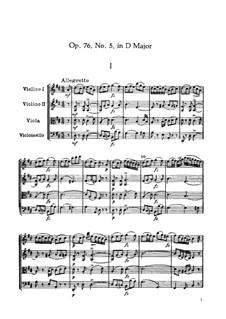 String Quartet No.64 in D Major, Hob.III/79 Op.76 No.5: Partitura completa by Joseph Haydn