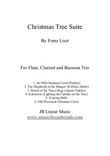 Christmas Tree, S.186: No.1, 3-5, 8, 9, for flute, clarinet and bassoon trio by Franz Liszt