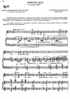 Asya. Arioso of Asya, Op.30: Asya. Arioso of Asya by Mikhail Ippolitov-Ivanov