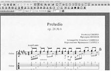 No.6 in B Minor: Para Guitarra by Frédéric Chopin