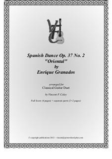 Twelve Spanish Dances: Dance No.2, for two guitars by Enrique Granados