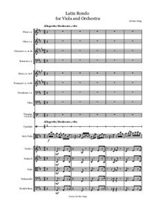 Latin Rondo for Viola and Orchestra: Latin Rondo for Viola and Orchestra by Jordan Grigg