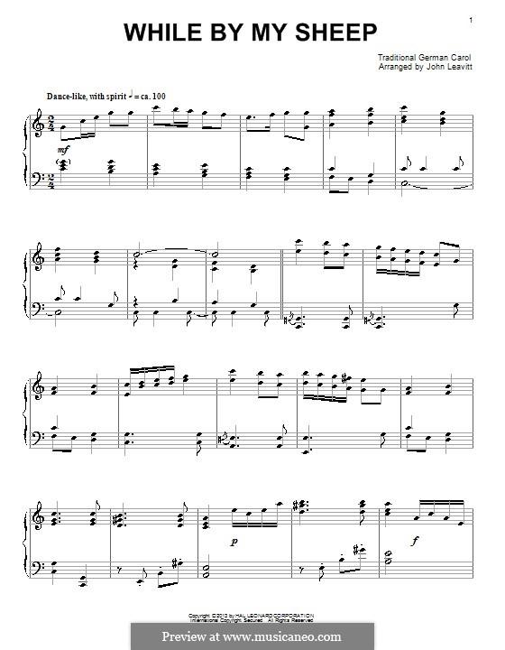 While By My Sheep: Para Piano by John Leavitt