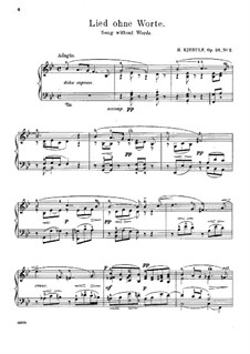 Six Sketches, Op.28: No.2 Song without Words by Halfdan Kjerulf