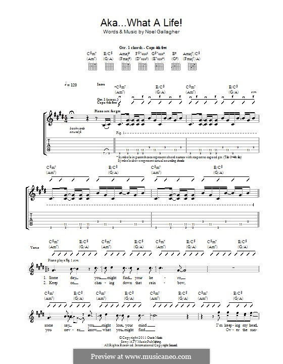 AKA... What a Life! (Noel Gallagher's High Flying Birds): Para guitarra com guia by Noel Gallagher