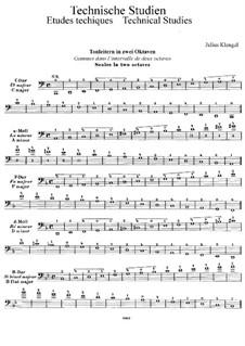 Technical Studies for Cello: Volume I by Julius Klengel