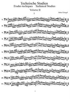 Technical Studies for Cello: Volume II by Julius Klengel
