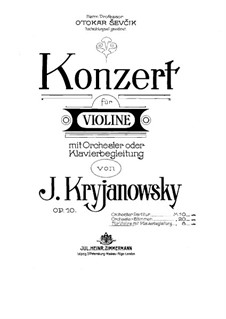Concerto for Violin and Orchestra (or Piano), Op.10: partitura by Ivan Kryzhanovsky